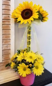 Sunflower Topiary Valentines Day